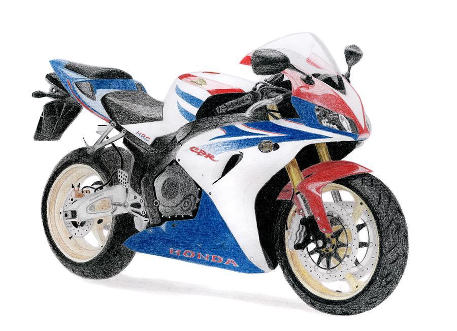 Honda Drawing - Honda Cbr 1000 Rr by Milan Surkala