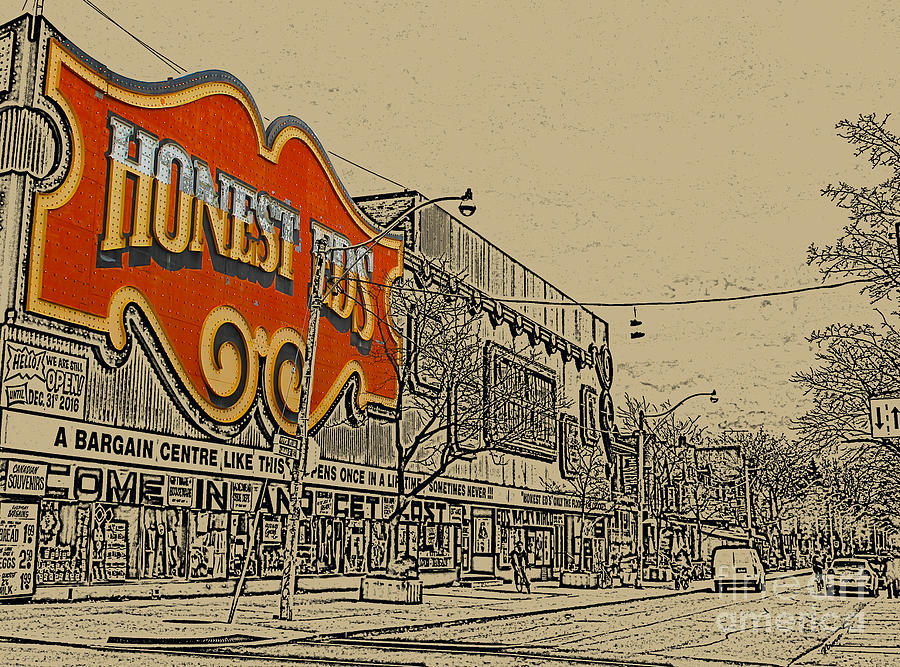 Toronto Photograph - Honest Eds On Markham Street by Nina Silver