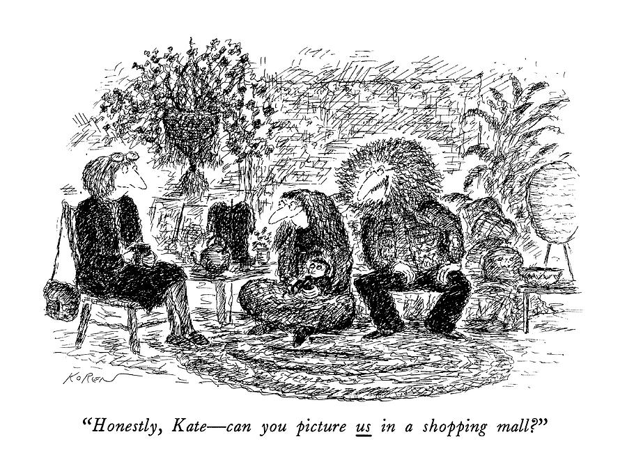 Honestly, Kate - Can You Picture Us In A Shopping Drawing by Edward Koren