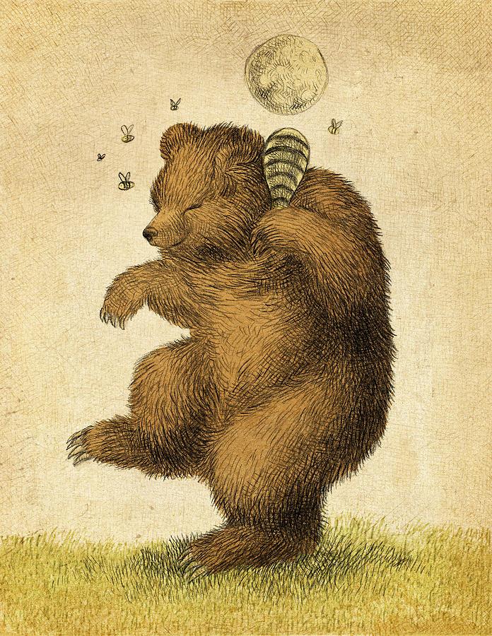 Bear Drawing - Honey Bear by Eric Fan