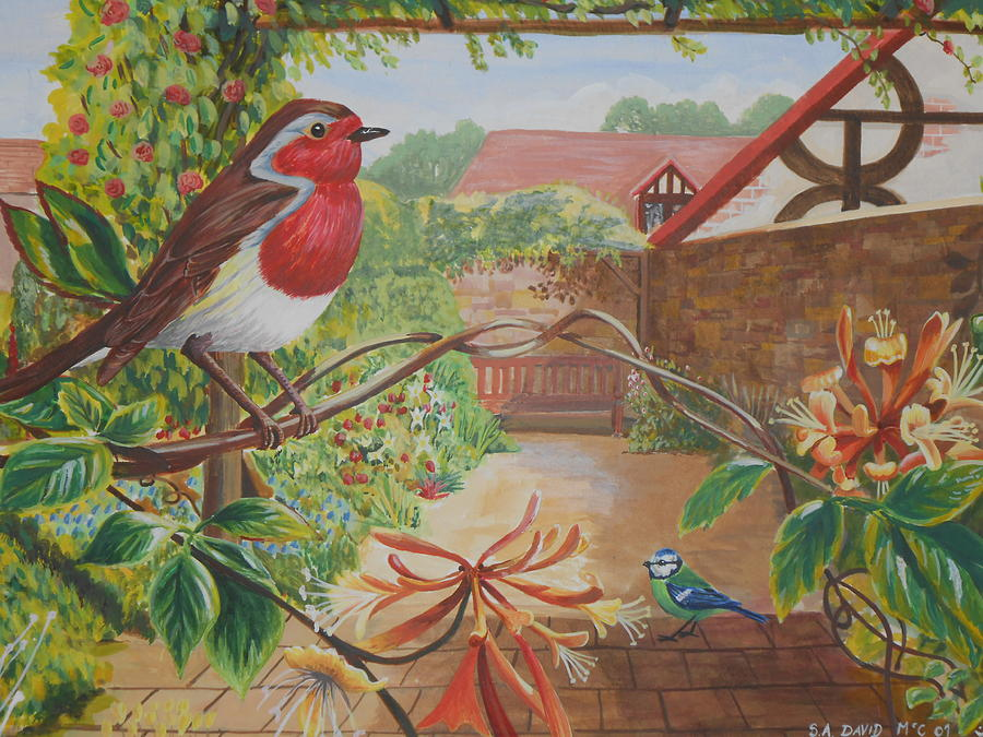 Paintings Painting - Honey Birds by David Paterson