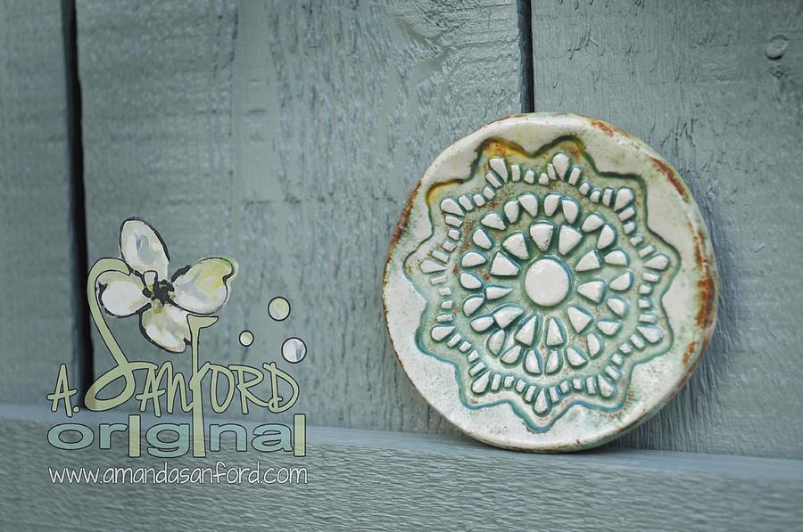 Handbuilt Sculpture - Honeydew This by Amanda  Sanford