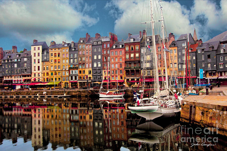 Honfleur Harbor by John Douglas