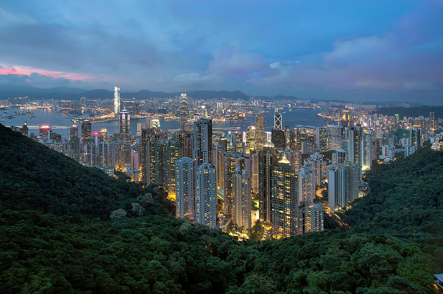 Victoria Peak Photograph - Hong Kong From Sky Terrace 428 At Victoria Peak by David Gn
