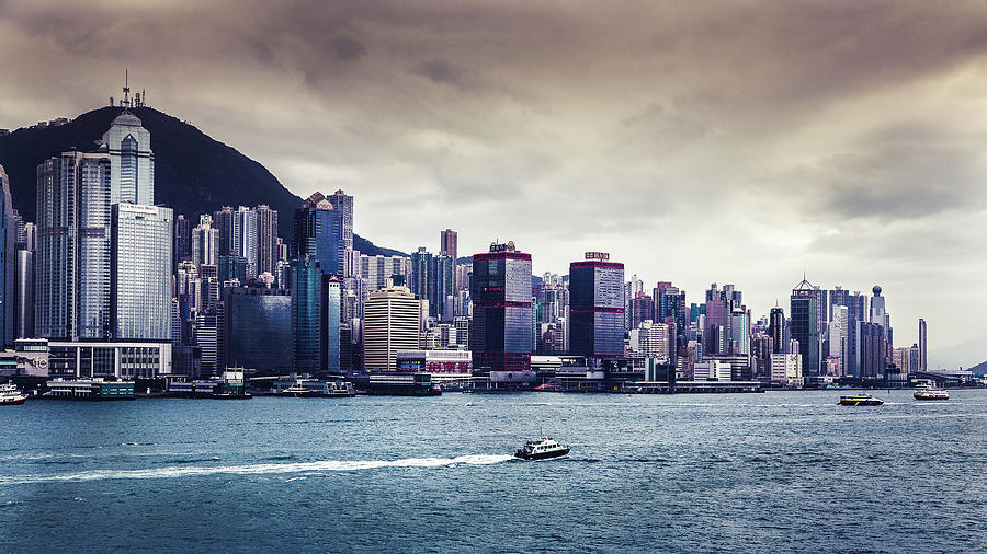 Hong Kong Island In The Cloudy Day Photograph by Natapong Supalertsophon