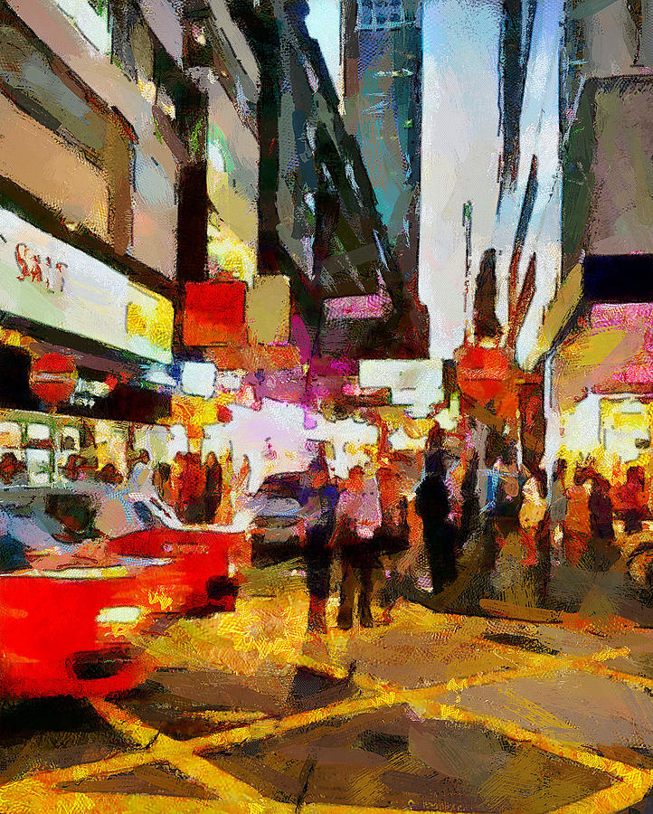 Hong Digital Art - Hong Kong Night Lights 2 by Yury Malkov