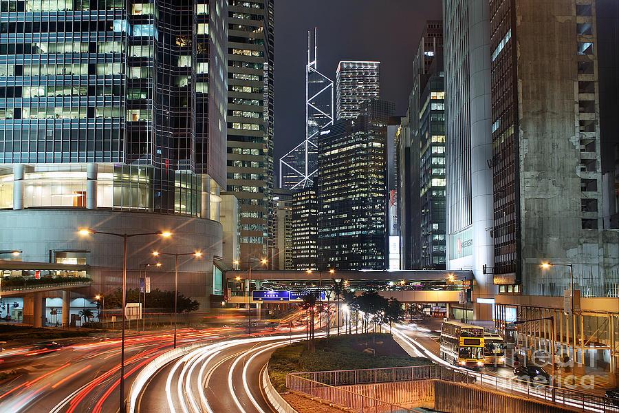 Hong Kong Photograph - Hong Kong Rush Hour by Lars Ruecker