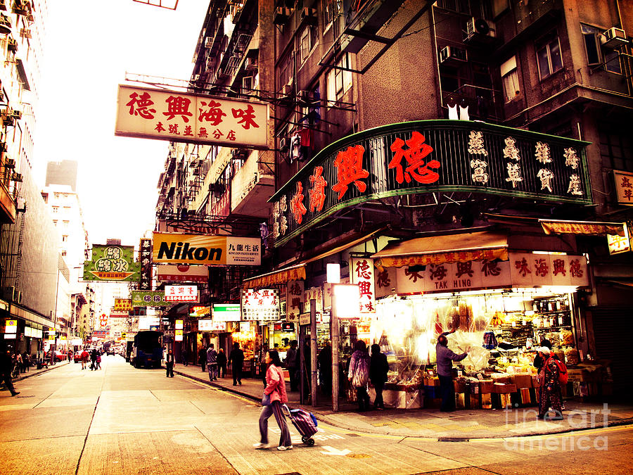 Hong Kong Photograph - Hong Kong Street by Ernst Cerjak