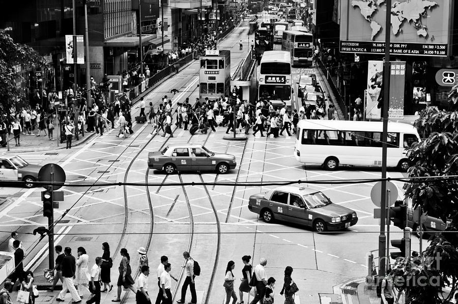 Hong Kong Photograph - Hong Kong Street by Lana Enderle