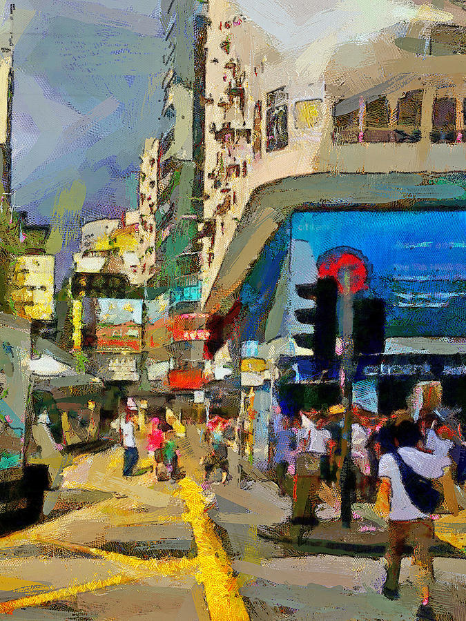 Hong Digital Art - Hong Kong Streets 1 by Yury Malkov