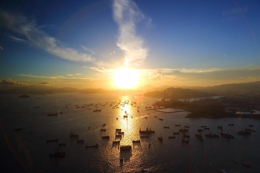 Hong Kong Sunset Photograph by Liu Wai Yip Even