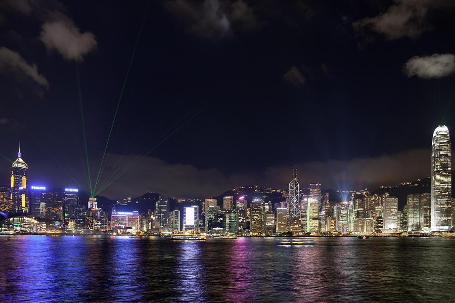 Hong Kong Photograph - Hong Kong Symphony Of Lights Show by David Gn