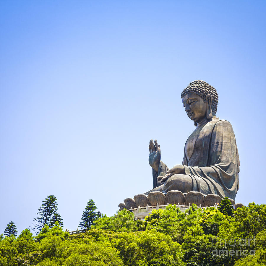 Buddha Photograph - Hong Kong The Giant Buddha by Colin and Linda McKie