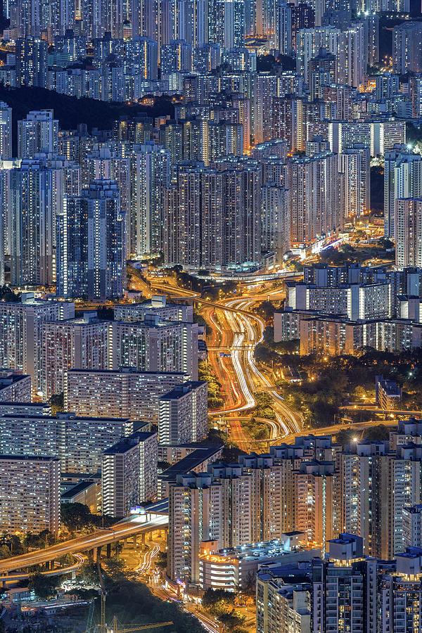 Hong Kong Urban Life Photograph by Ratnakorn Piyasirisorost