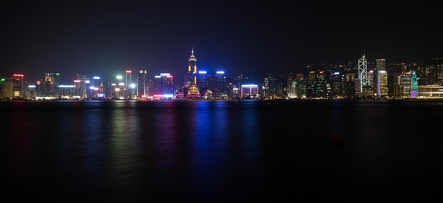 Long Photograph - Hong Kong Waterfront by Mike Lee