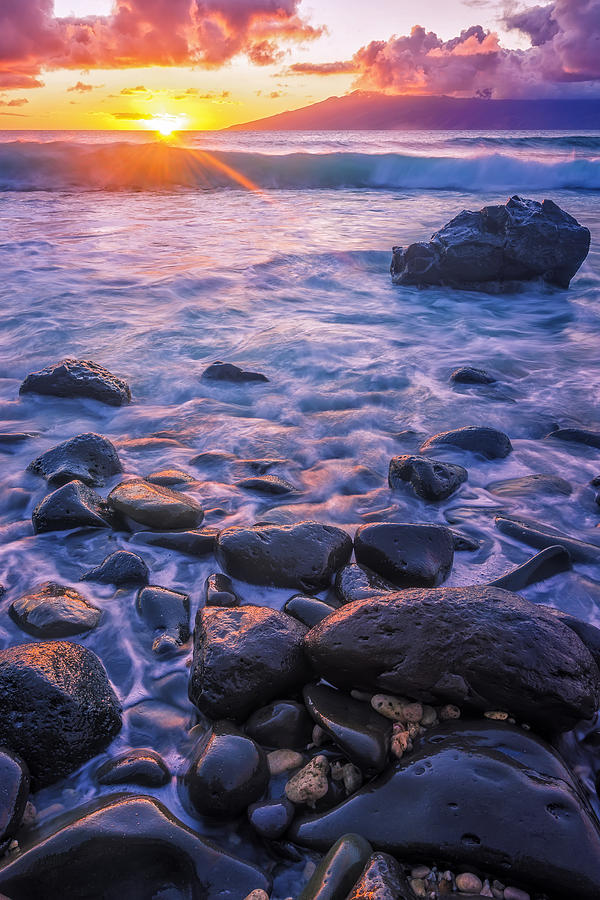 America Photograph - Honolua Sunset by Hawaii  Fine Art Photography
