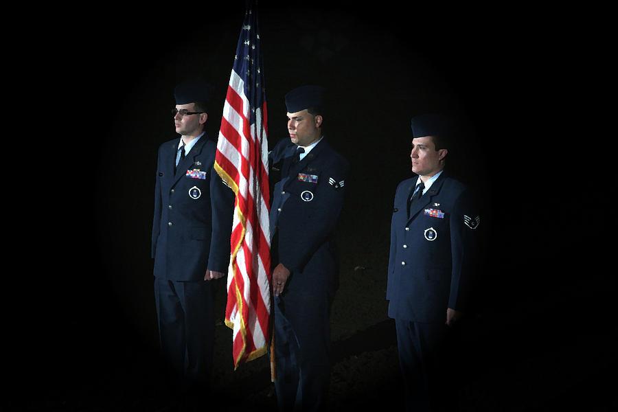 Military Photograph - Honor Guard by Karol Livote