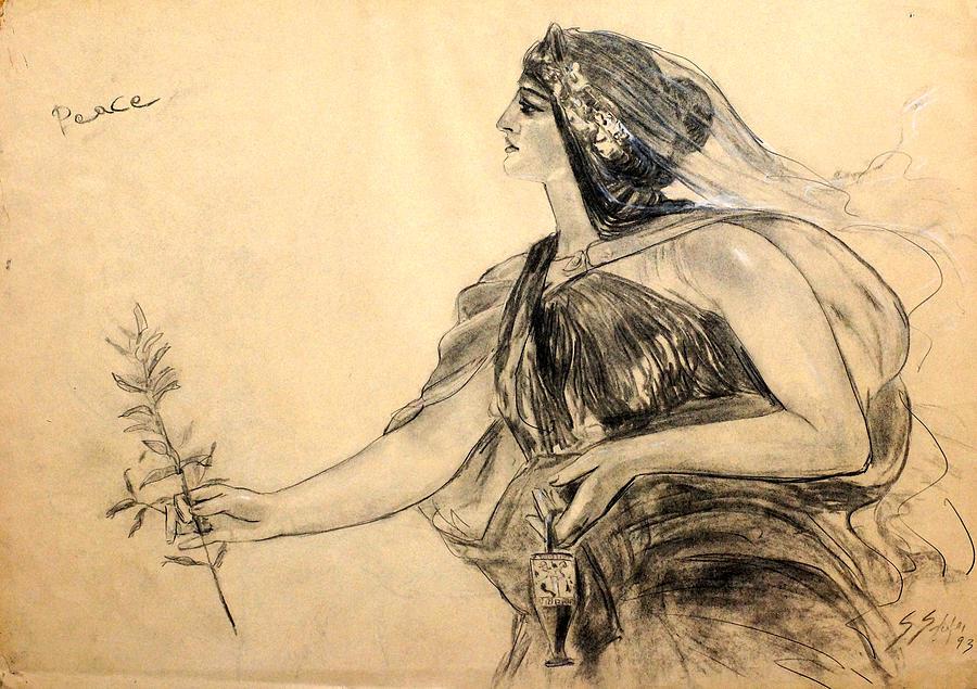 Peace Drawing - Honore Gyzis - Peace by Sefedin Stafa