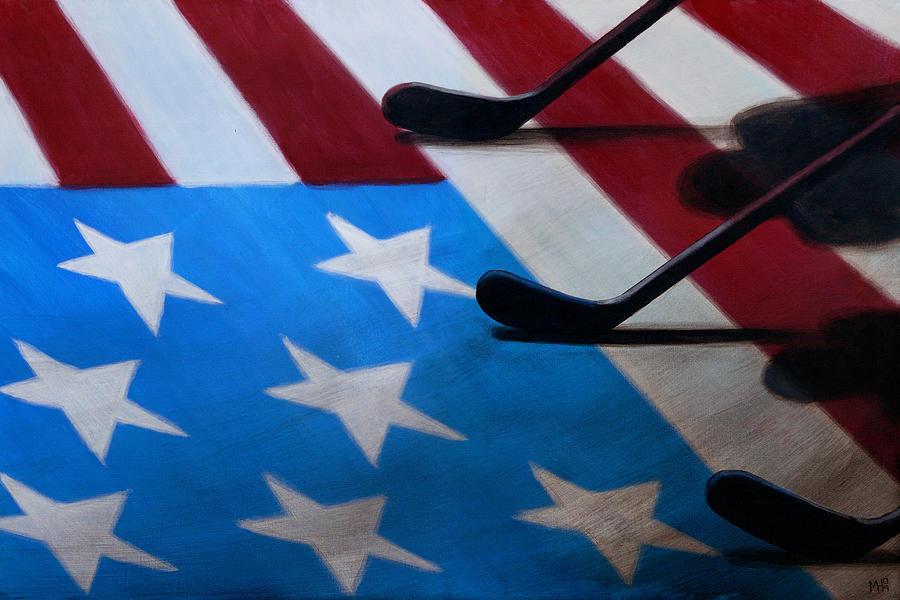 America Painting - Honoring America by Marlon Huynh