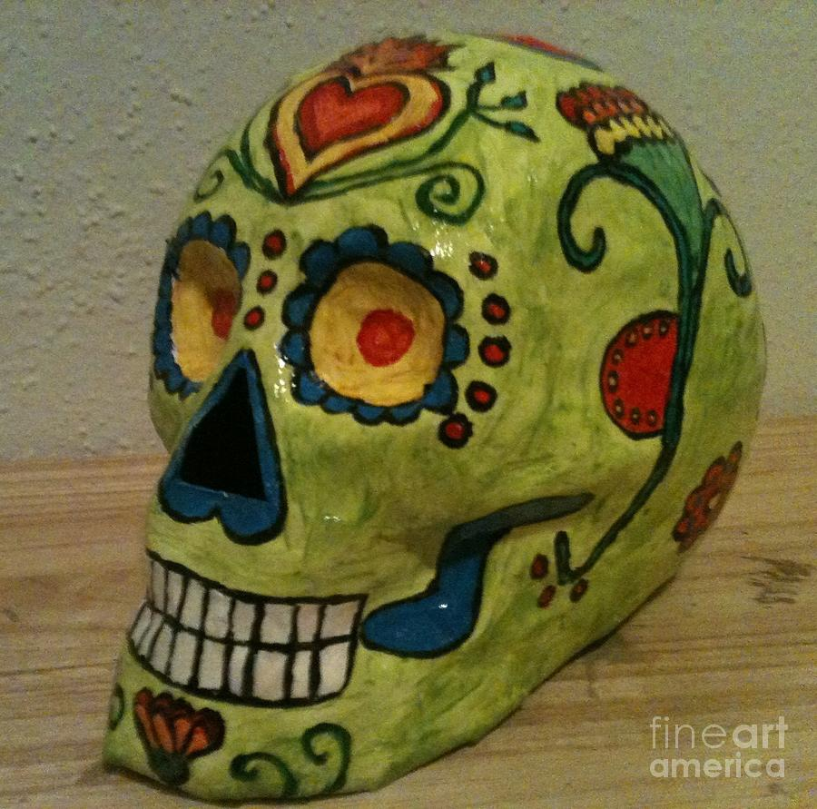 Day Of The Dead Sculpture - Honorio by Paula Marcenaro Solinger