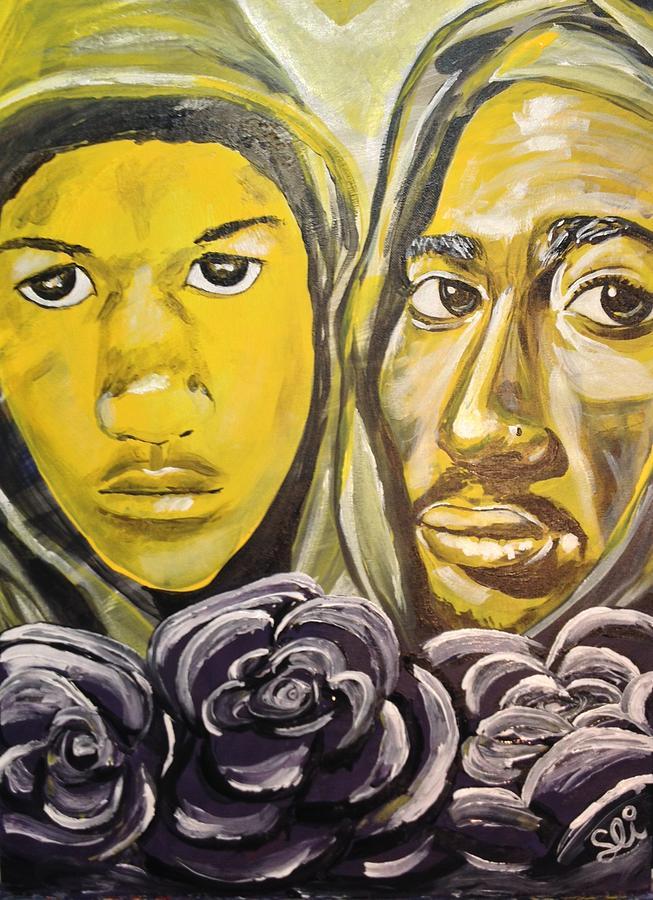 Hood Heaven Painting by Sean Ivy aka Afro Art Ivy