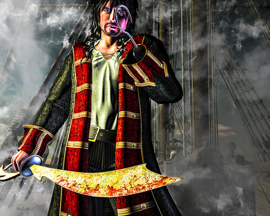 Pirate Digital Art - Hook Pirate Extraordinaire by Bob Orsillo