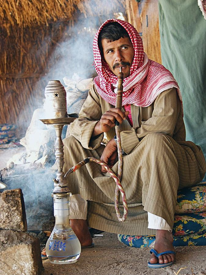 Arab Photograph - Hookah Smoker by Science Photo Library