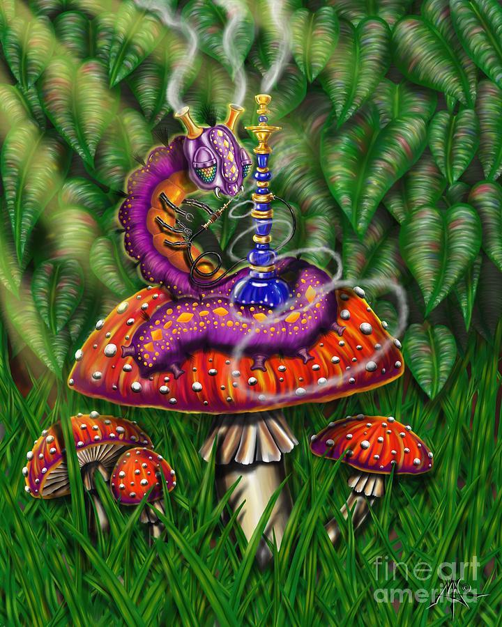 Caterpillar Digital Art - Hookapillar by Robert Fenwick May Jr
