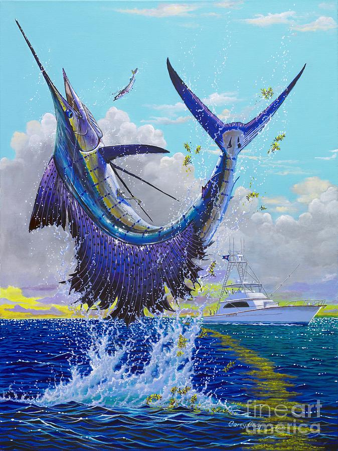 Sailfish Painting - Hooked Up Off004 by Carey Chen