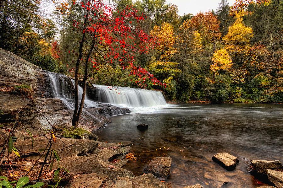 Hooker Falls In Autumn by Mark Steven Houser