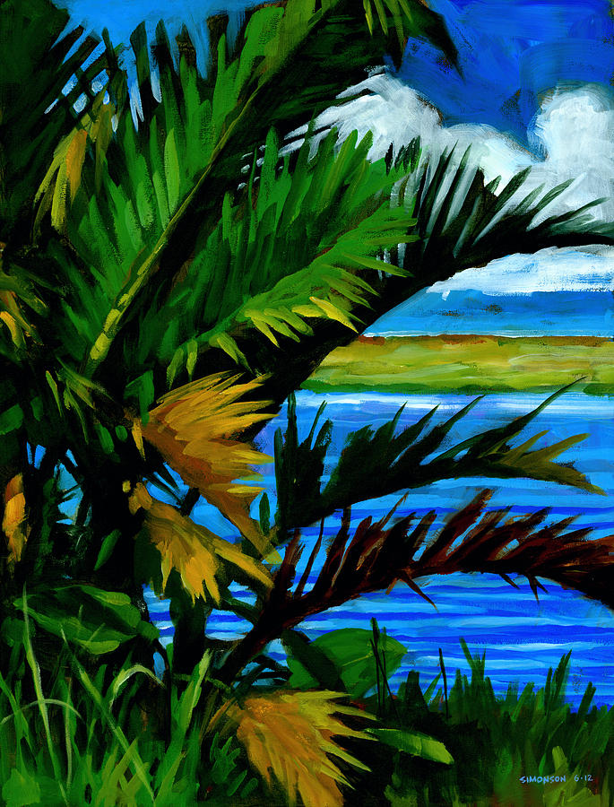 Tropical Painting - Hoomaluhia 1 by Douglas Simonson