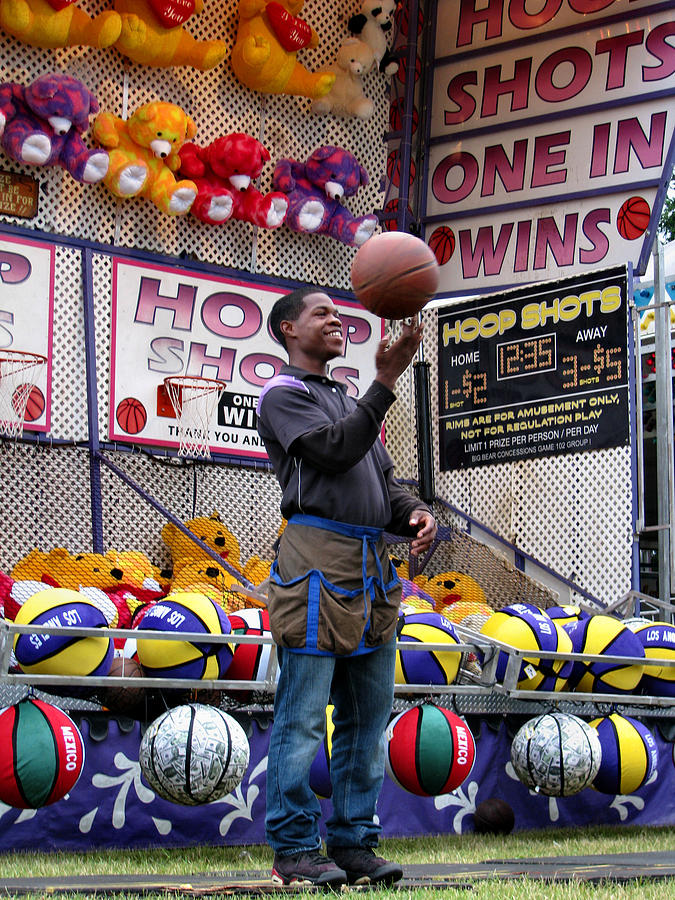Carnivals Photograph - Hoop Shots by Rory Sagner