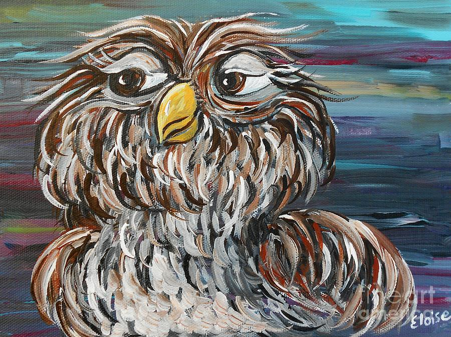 Owl Painting - Hoos Your Daddy by Eloise Schneider