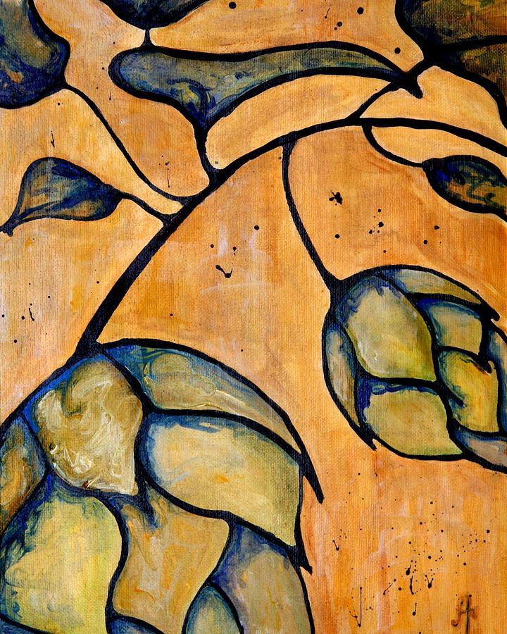 Hop Painting - Hop Extract by Alexandra Ortiz de Fargher
