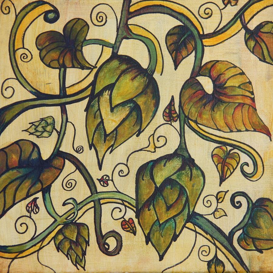 Hop Painting - Hop Melody by Alexandra Ortiz de Fargher