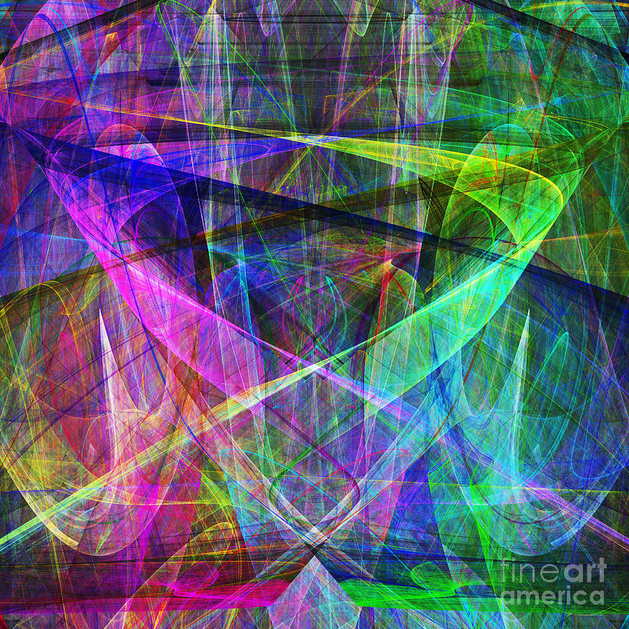 Fractal Digital Art - Hope 20130511 Square by Wingsdomain Art and Photography
