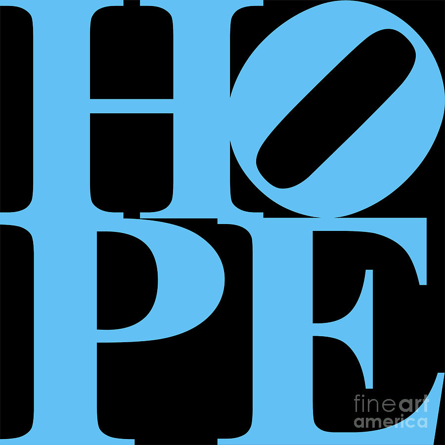 Philosophy Digital Art - Hope 20130710 Blue Black by Wingsdomain Art and Photography