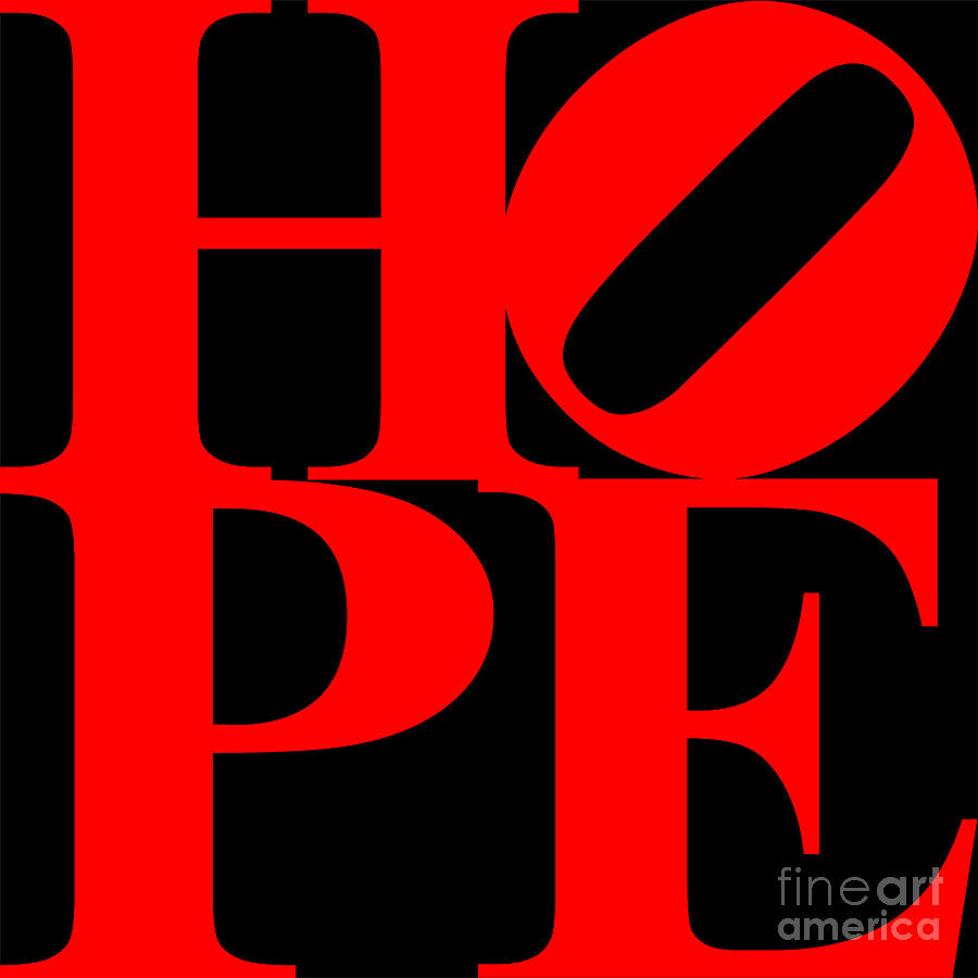 Philosophy Digital Art - Hope 20130710 Red Black by Wingsdomain Art and Photography