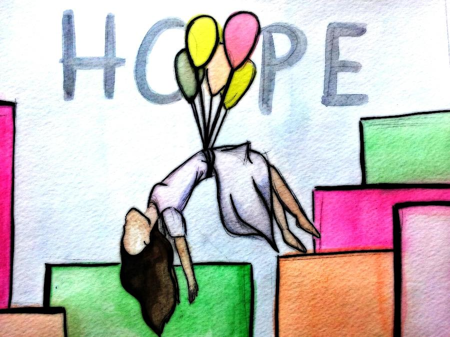 Hope Painting - Hope Afloat  by Kiara Reynolds