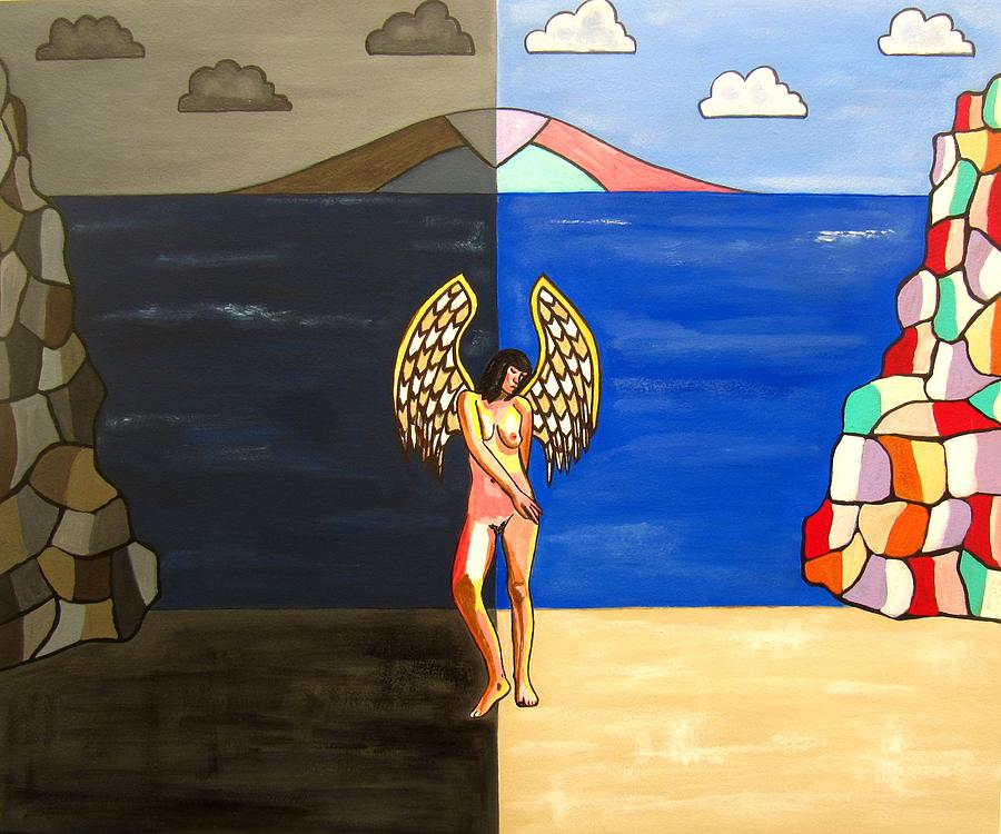 Sand Paintings Painting - Hope And Despair by Sandra Marie Adams