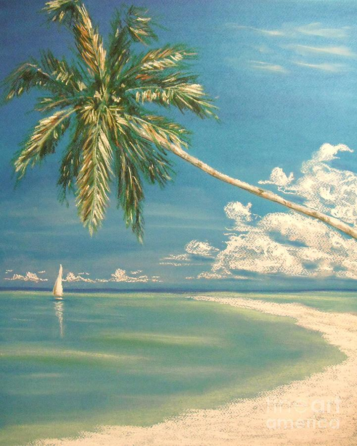 Tropical Painting - Hope Bay by The Beach  Dreamer