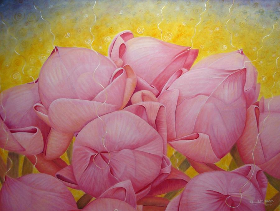 Lotus Painting - Hope by Claudette Dean
