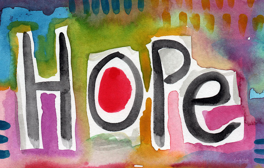 Hope Painting - Hope- Colorful Abstract Painting by Linda Woods