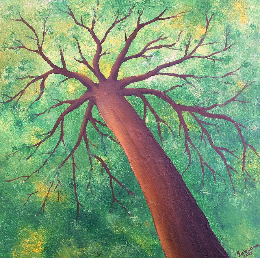 Tree Painting - Hope by Fabiana Oliveira