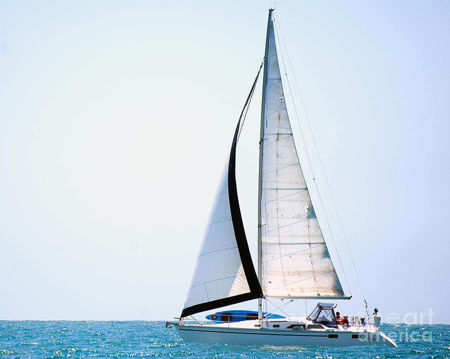 Sailing Photograph - Hope Floats Sailboat From The Book My Ocean by Artist and Photographer Laura Wrede