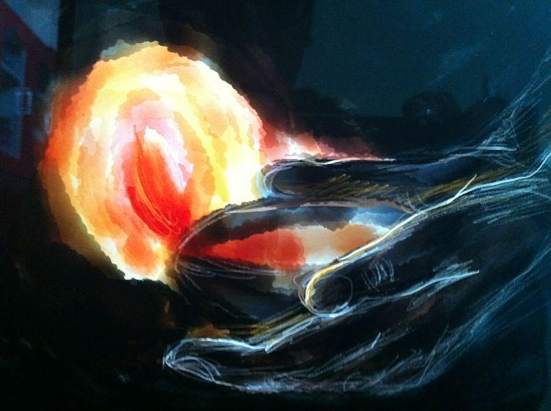 Flame Painting - Hope  by Karunita Kapoor