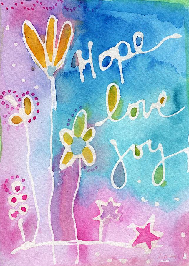 Hope Love Joy Painting