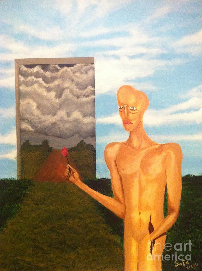 Human Figure Painting - Hope by Safa Al-Rubaye