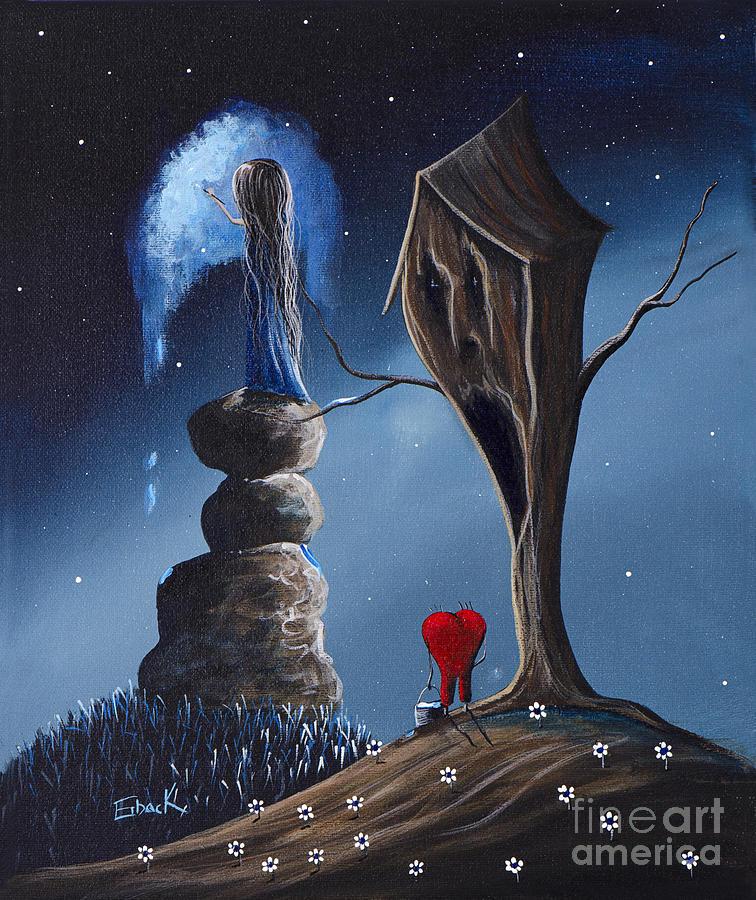 Fantasy Painting - Hope Still Lives Here By Shawna Erback by Shawna Erback