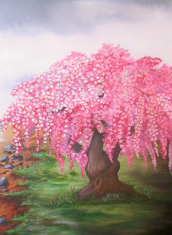 Cherry Blossoms Painting - Hope by Valorie Cross